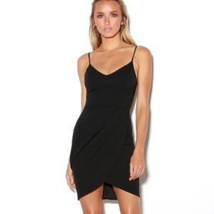 LULUS FOREVER YOUR GIRL BLACK BODYCON DRESS M